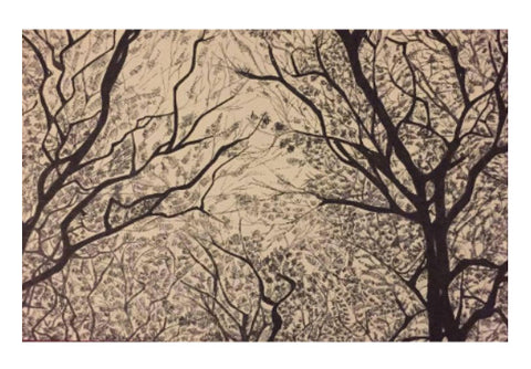 Wall Art, Trees Ink Trails | Artist: Archana Narendran, - PosterGully