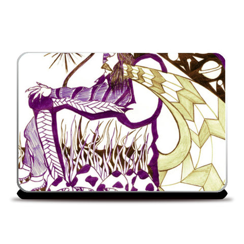 MUSHROOMthrone Laptop Skins | Artist : akash biyani