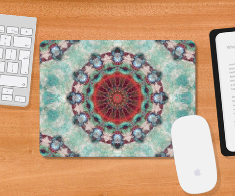 Mousepad, red kaleidoscope Mousepad | Artist: harshad parab, - PosterGully