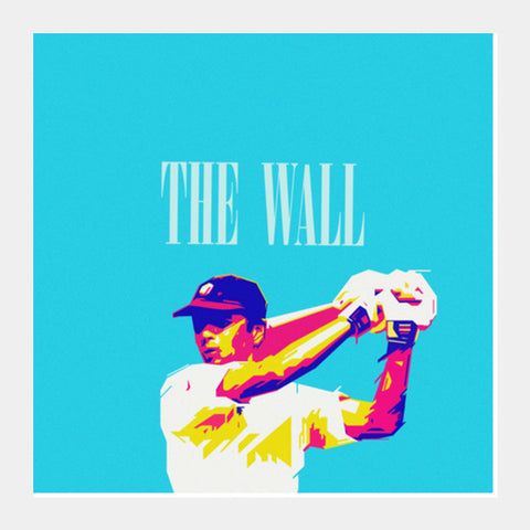 Square Art Prints, THE WALL DRAWID CRICKET INDIA WORLD CUP  Square Art Prints | Artist : dooo, - PosterGully