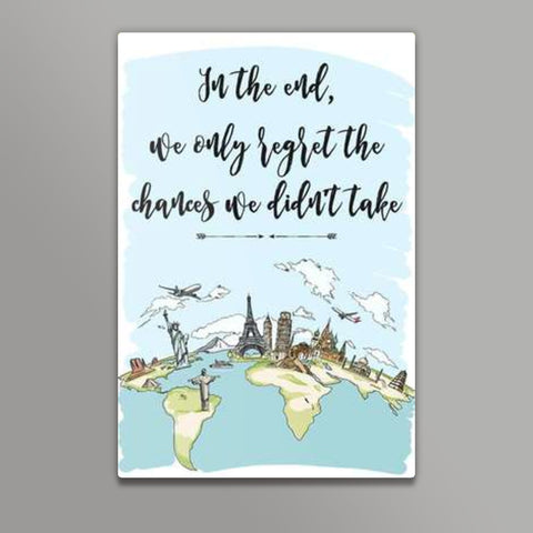 Quirky World Map Metal Prints | Artist : Inderpreet Singh