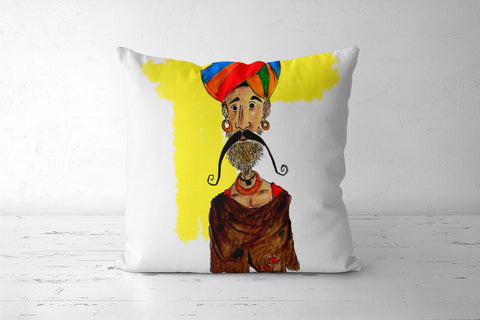 gyani baba Cushion Covers | Artist : Shivraj Roy