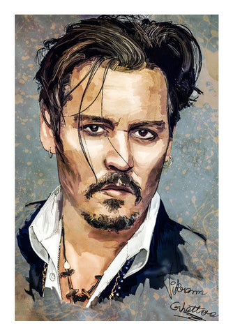 Wall Art, Fluen Strokes with Johnny Depp Wall Art | Artist : Vikram Ghattora, - PosterGully