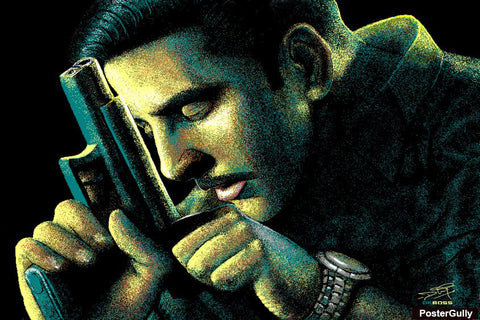 Wall Art, Akki On Action Artwork | Artist: DK Boss, - PosterGully - 1