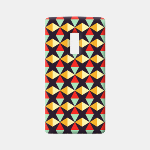 Geometric triangle subtle pattern One Plus Two Cases | Artist : Designerchennai
