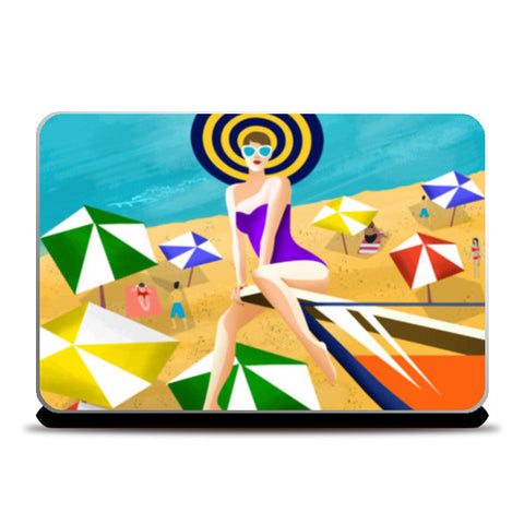 To the Beach Laptop Skins | Artist : Shrishti Chouhan