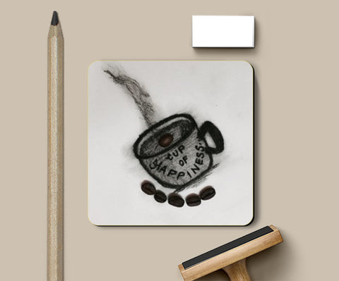 Charcoal Art | Coffee | Coasters | Artist : Nandini Rawat