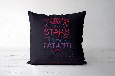 Constellations by John Green Cushion Cover | Artist: Mohak Gulati
