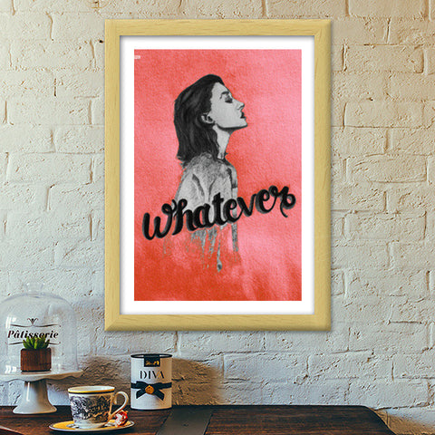 Whatever Premium Italian Wooden Frames | Artist : Maeday