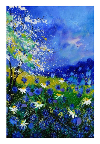 Wall Art, blue cornflowers 6761 Wall Art | Artist : pol ledent, - PosterGully