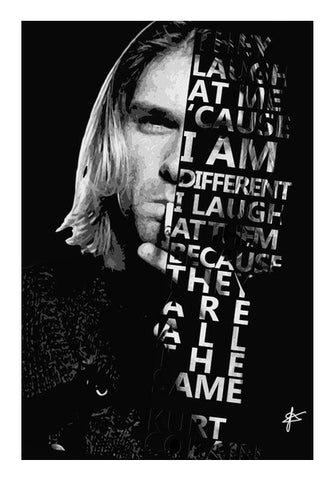 Kurt Cobain Quote  Art PosterGully Specials