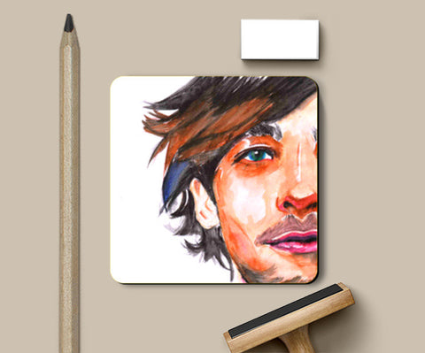 """1D"" Louis Tomlinson Water color Painting Coasters 