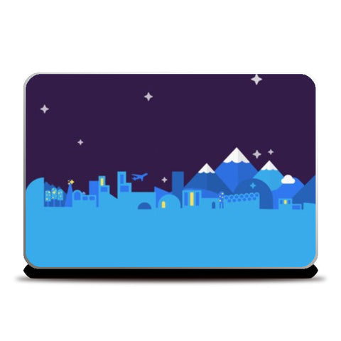 Laptop Skins, Midnight City Laptop Skins | Artist : Gyan Lakhwani, - PosterGully