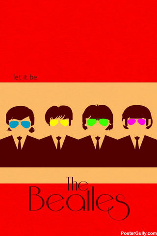 Wall Art, The Beatles Artwork | Artist: Soumya Mukhopadhyay, - PosterGully - 1