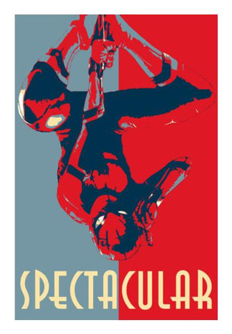 PosterGully Specials, SpiderMan - Spectacular Wall Art | Artist : LinearMan, - PosterGully