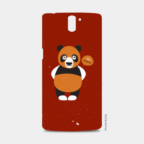 Panda On Red One Plus One Cases | Artist : Designerchennai