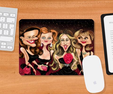 Mousepad, Caricature - Sex and the City Cast Mousepad | Kaleidostrokes - Leena Swamy, - PosterGully