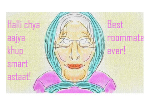 Best roommate ever! Wall Art  | Artist : Trusha Navalkar