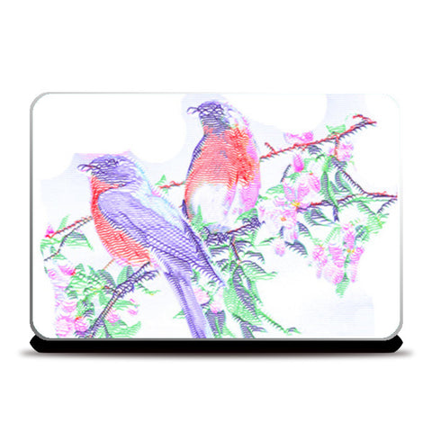Laptop Skins, 2 Colorful Birds Laptop Skins | Artist : CK GANDHI, - PosterGully