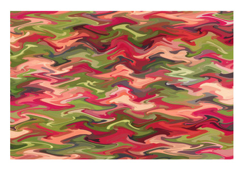 Abstract Pink Green Zig Zag Waves Pattern Background Art PosterGully Specials