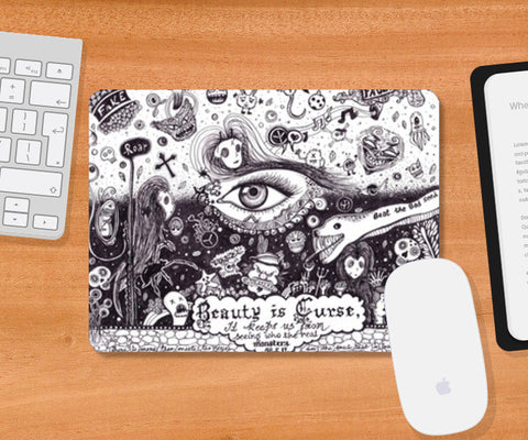 Mousepad, Beauty is a curse Mousepad | Artist : Madhurima Biswas, - PosterGully