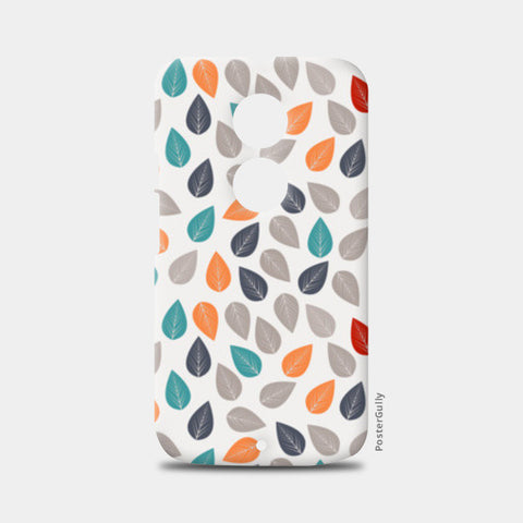 Seamless pattern with multicolored leaf on light background Moto X2 Cases | Artist : Designerchennai