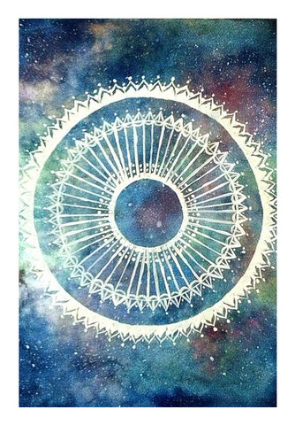 Wall Art, Galaxy Mandala Wall Art | Artist : Sukanya Chakraborty, - PosterGully