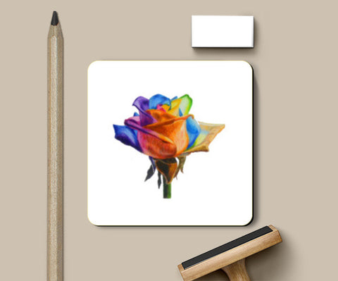 Coasters, Rainbow rose Coasters | Artist : Somin Jain, - PosterGully