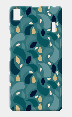 Geometric leaf  shapes seamless pattern Lenovo A7000 Cases | Artist : Designerchennai