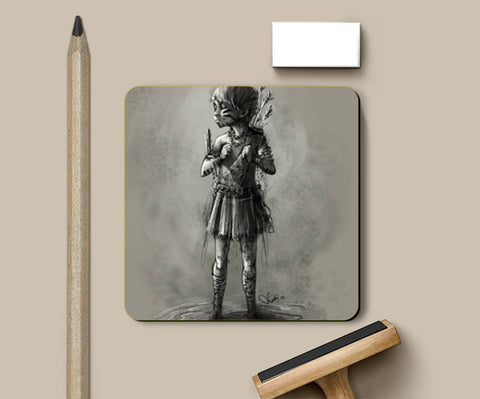 Coasters, Little warrior Coaster | Rishi Singh, - PosterGully