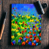 Poppies and rudbeckias Notebook | Artist : pol ledent