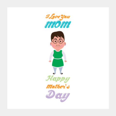 Mom Love You Square Art Prints PosterGully Specials