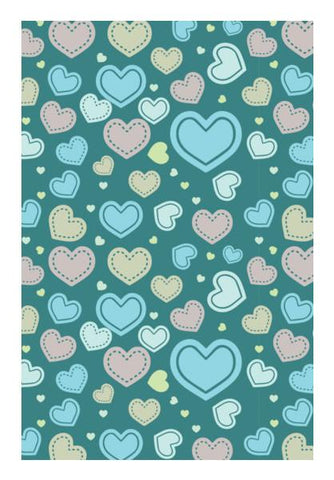 PosterGully Specials, Seamless multi hearts art pattern Wall Art | Artist : Designerchennai, - PosterGully
