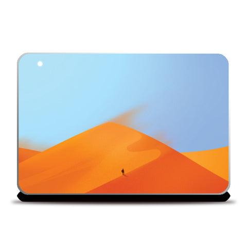 The Lonely Traveller Laptop Skins | Artist : Aditya Golechha