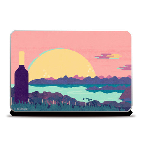 Wine Country Laptop Skins | Artist : Deepikah Bhardwaj