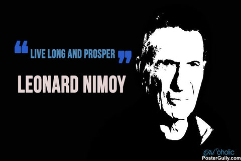 Wall Art, Leonard Nimoy Artwork | Artist: Arnob Dey, - PosterGully - 1