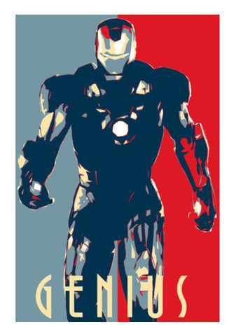 PosterGully Specials, Iron man : Genius Wall Art | Artist : LinearMan, - PosterGully