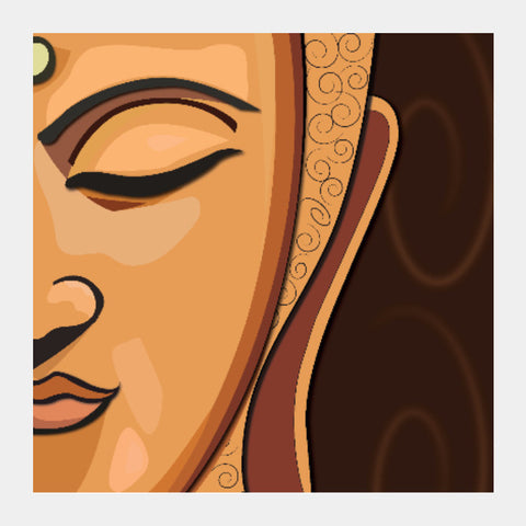 Square Art Prints, Buddah Square Art | Artist : Sidhant Sharma, - PosterGully