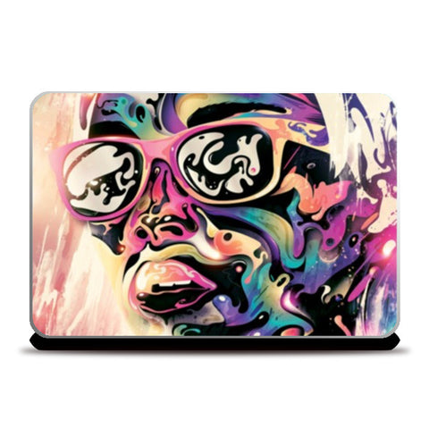 Laptop Skins, Painted face Laptop Skins | Artist : Randolph Matthias, - PosterGully