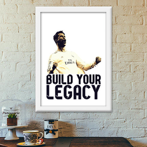Cristiano Ronaldo - Build Your Legacy (Real Madrid) Premium Italian Wooden Frames | Artist : Syamantak Dubey