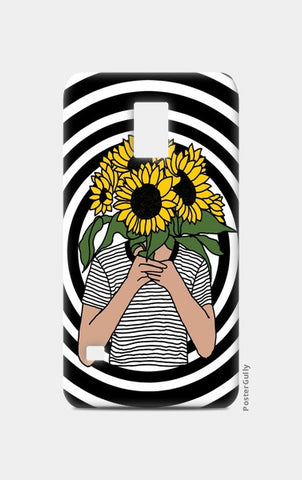 sunflower mono Samsung S5 Cases | Artist : Priyanka Paul