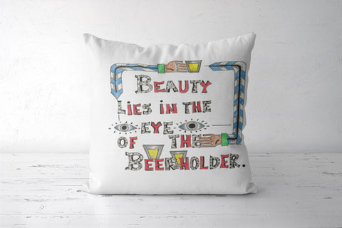 Beauty in Beer Cushion Covers | Artist : Suneera Heloise Mendonsa