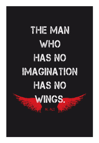 Wall Art, No IMAGINATION No WINGS ~ Muhammad Ali Quote Wall Art | Artist : GS, - PosterGully