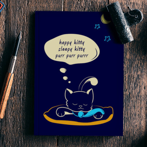 Sleepy Kitty Notebook | Artist : Vishali Bawa