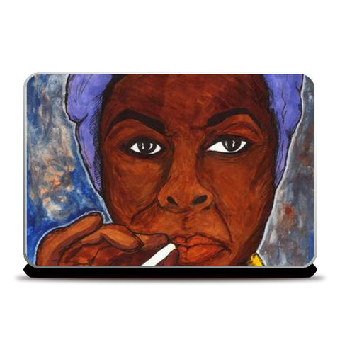 What Happened, Miss Simone? Laptop Skins | Artist : Pop Goes The Easel