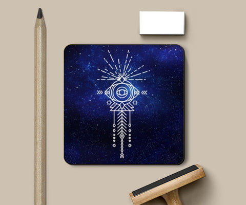 Abstract eye doodle galaxy Coasters | Artist : Gauri Deshpande