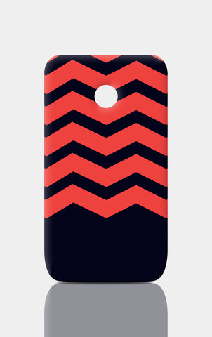 Moto E Cases, Zigzag Red Moto E Case | Artist: Inderpreet, - PosterGully
