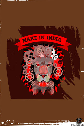 Wall Art, Make In India Artwork | Artist: Devraj Baruah, - PosterGully - 1