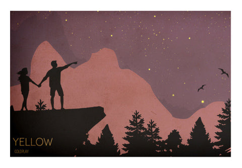 Look at The Stars | Coldplay Yellow | Poster Wall Art  | Artist : Rohan Jaiswal