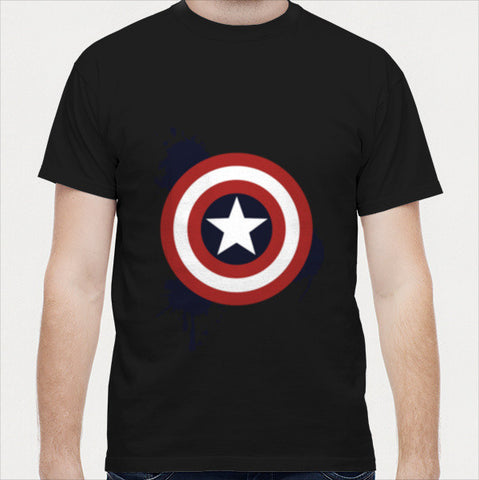 Paint Splatter Captain America Men T Shirts | Artist : designoholic0211